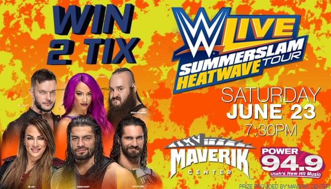 Win Tix to WWE LIVE SummerSlam Heatwave Tour on Saturday June 23rd!