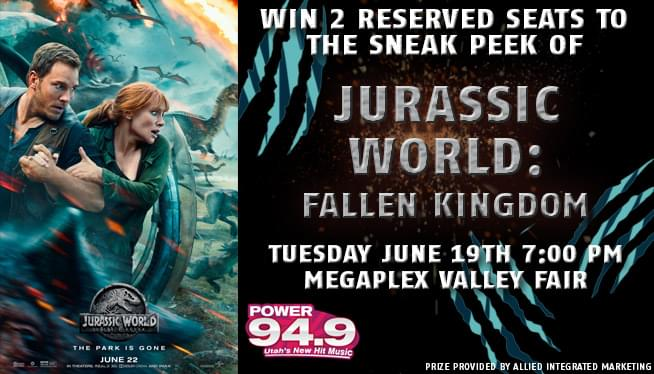 WIN a SNEAK PEAK of Jurassic World: Fallen Kingdom!