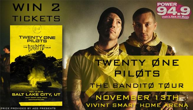 Win 2 Tix to TWENTY ØNE PILØTS!