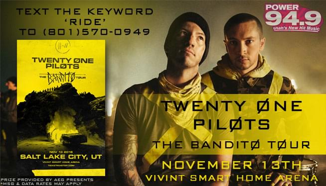 Text-2-Win Tickets to TWENTY ØNE PILØTS!
