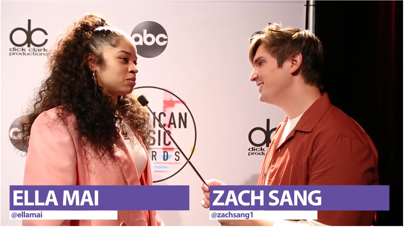 Zach Sang Interviews Ella Mai About Her 2018 AMA Nomination