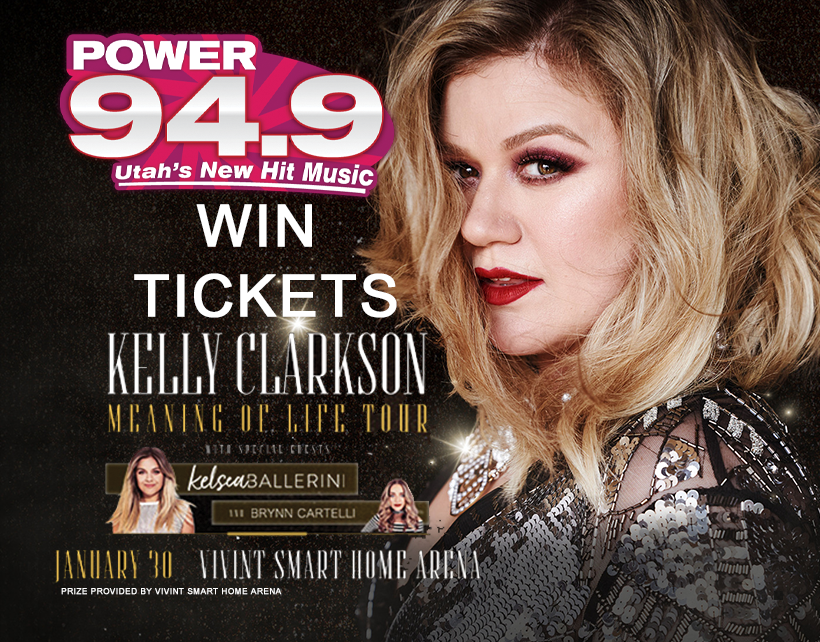Win Tix to Kelly Clarkson on January 30th at Vivint Smart Home Arena
