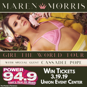 Win Tix to Marren Morris at the Union Event Center on March 19th From POWER 94.9