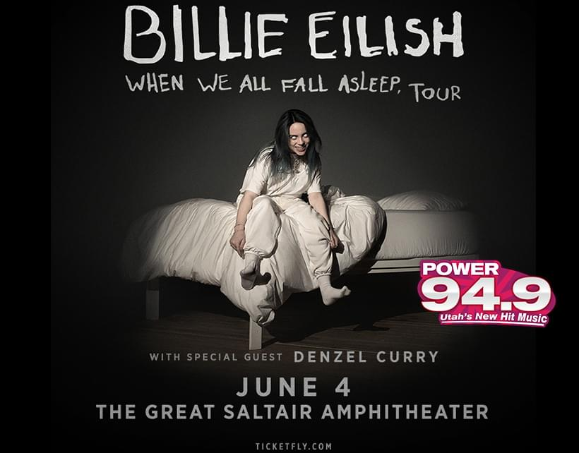 Win Tix to Billie Eilish June 4th at the Great Saltair From POWER 94.9 (SOLD OUT)