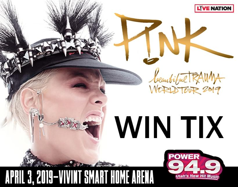 Win Tix to P!nk at Vivint Smart Home Arena on Wednesday, April 3, 2019