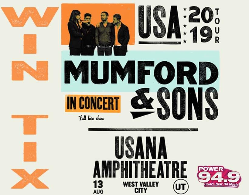 Win Tix to Mumford and Sons with special guests Portugal The Man on August 13th at USANA Amphitheatre