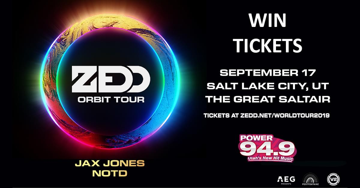 Postfontaine Presents: Zedd with Jax Jones & NOTD at the Great Saltair on Tuesday September 17th