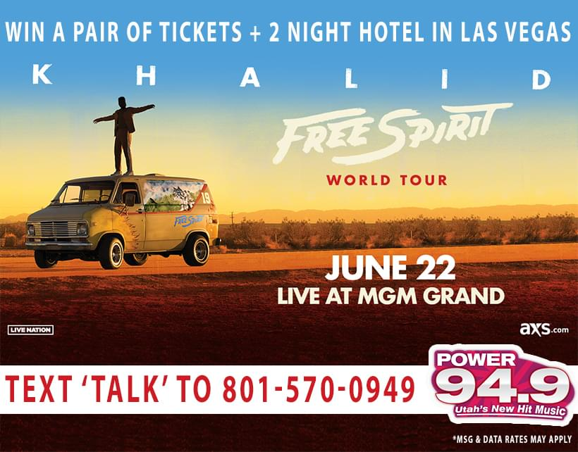 Win 2 Nights Hotel Plus Tix to Khalid June 22nd at MGM Grand