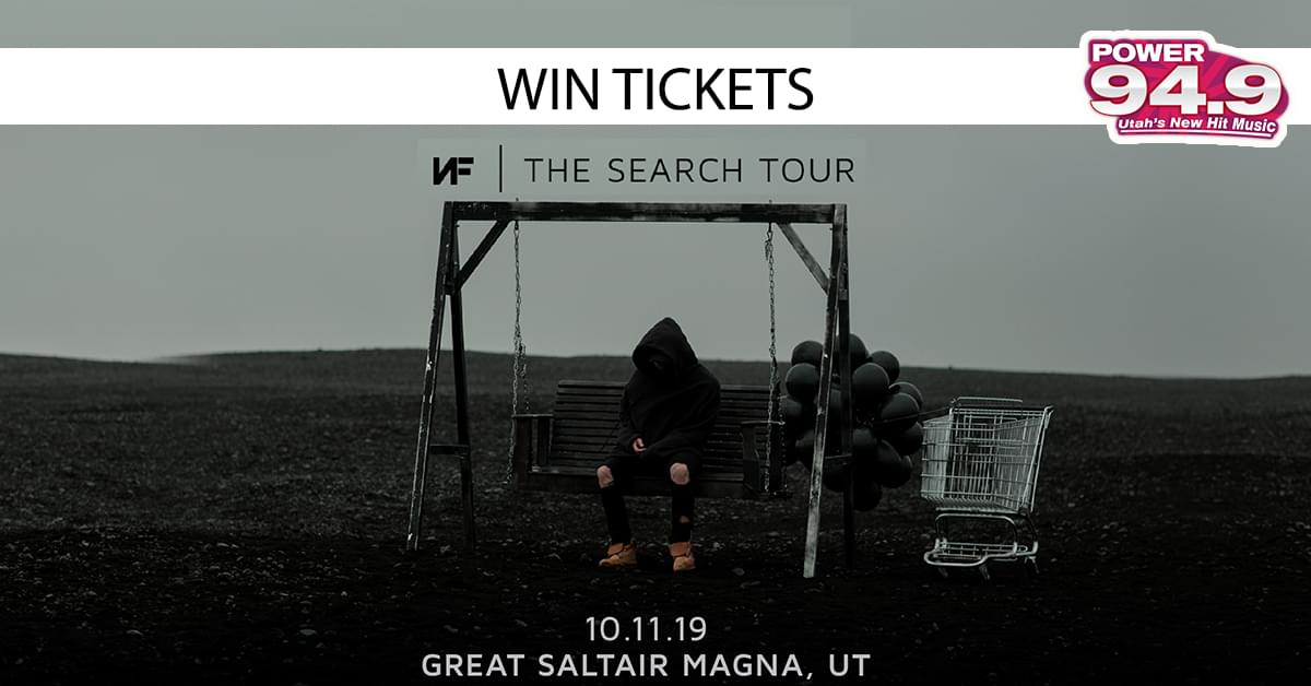 Win Tix to NF: The Search Tour on Friday Oct 11th at the Great Saltair