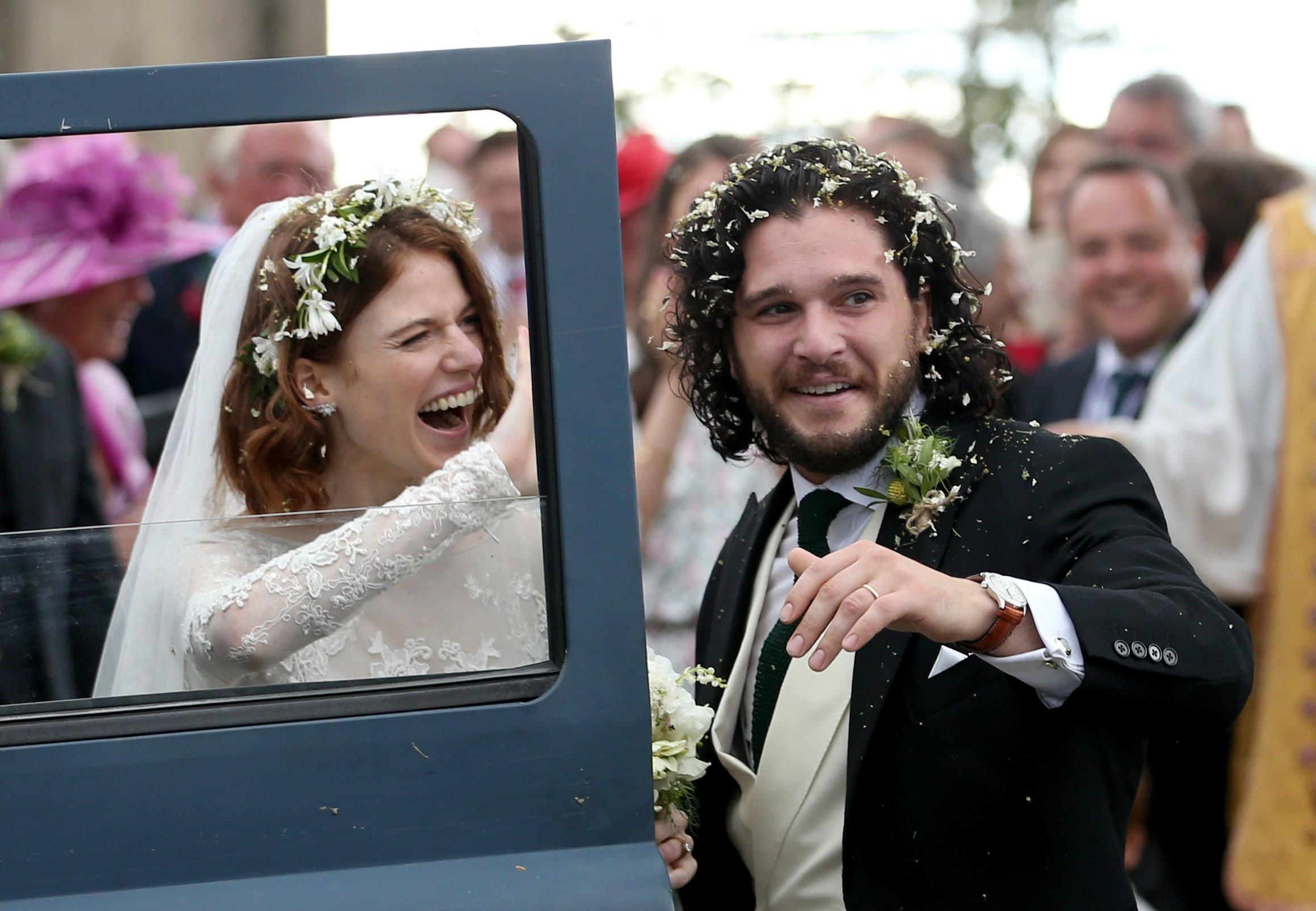 A LOOK AT 'GAME OF THRONES' STARS KIT HARINGTON & ROSE LESLIE'S WEDDING