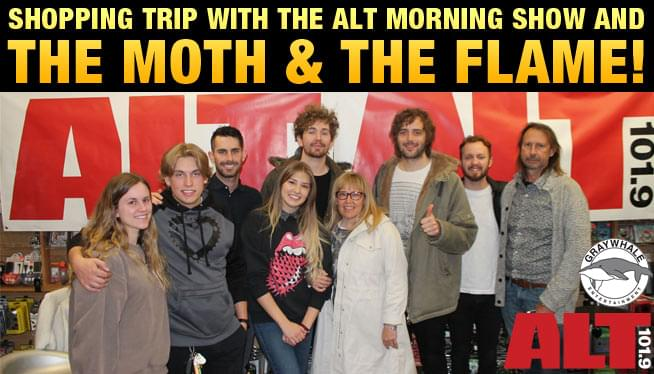 Shopping trip with the ALT Morning Show and The Moth & The Flame!