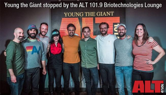 Young the Giant stopped by the ALT 101.9 Briotechnologies Lounge