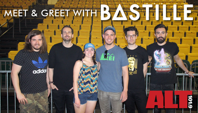Photos/ Video from our Meet & Greet with Bastille!