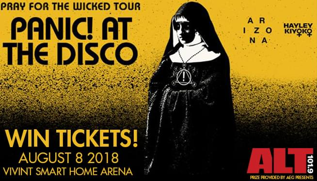 Win Tix to Panic! At the Disco August 8th at Vivint Smart Home Arena from ALT 101.9!