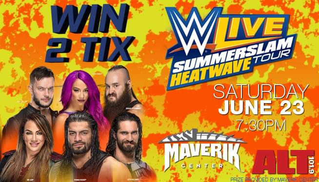 Win 2 Tix to WWE LIVE SummerSlam Heatwave Tour at the Maverik Center on Saturday July 23rd from ALT 101.9!