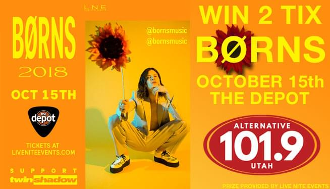 Win Tickets to BØRNS on Oct. 15th on ALT 101.9!