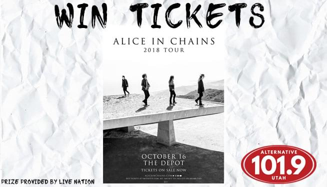 Win Tickets to Alice In Chains at October 16th at The Depot!