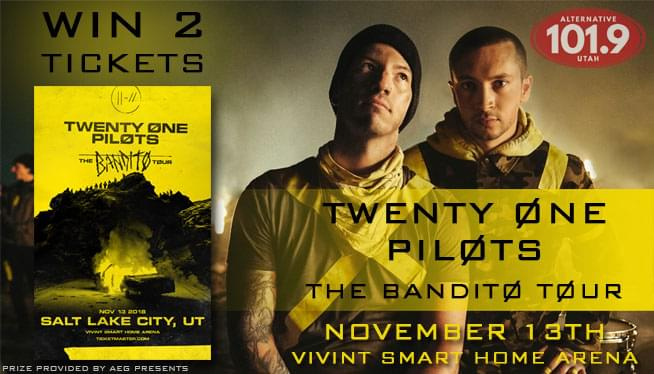 Win 2 Tix to TWENTY ØNE PILØTS !