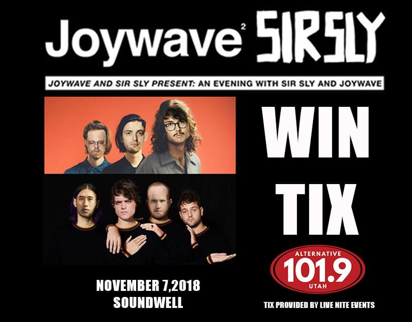 Want to see Joywave and Sir Sly?