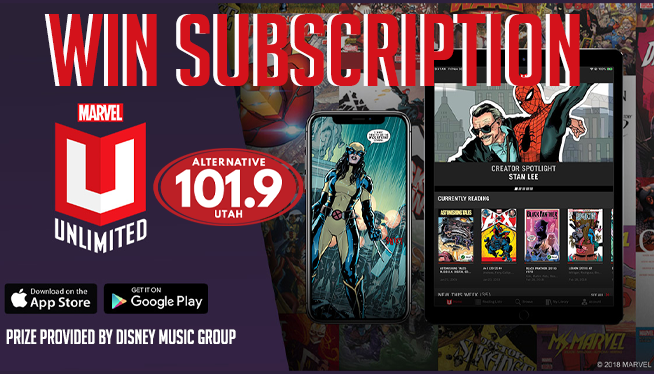 Win a FREE Year Subscription to Marvel Unlimited from ALT 101.9