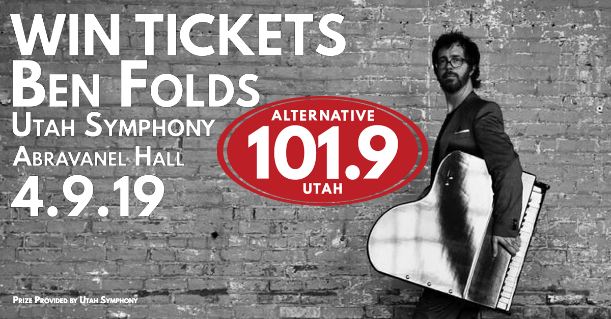 Win Tix to Ben Folds with the Utah Symphony on April 9, 2019 at Abravanel Hall From ALT 101.9