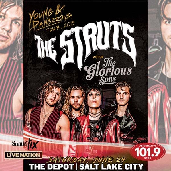 Win Tix to the Struts at the Depot on June 29th from ALT 101.9