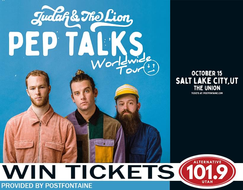 Win Tix to Judah and the Lion: Pep Talks Worldwide Tour 2019 on Tuesday October 15th from ALT 101.9