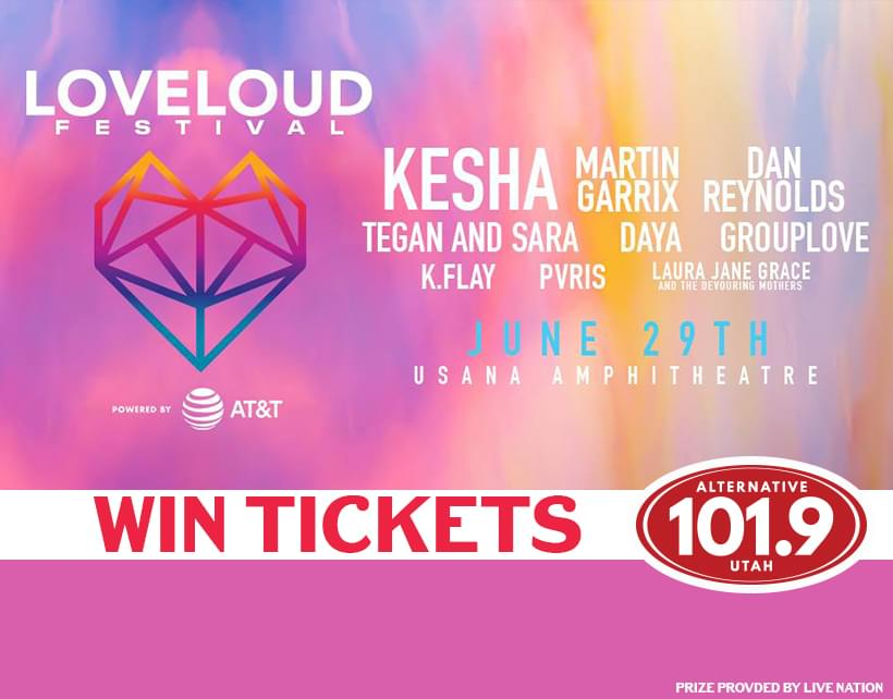 Win Tix to Loveloud 2019 on Saturday June 29th at USANA