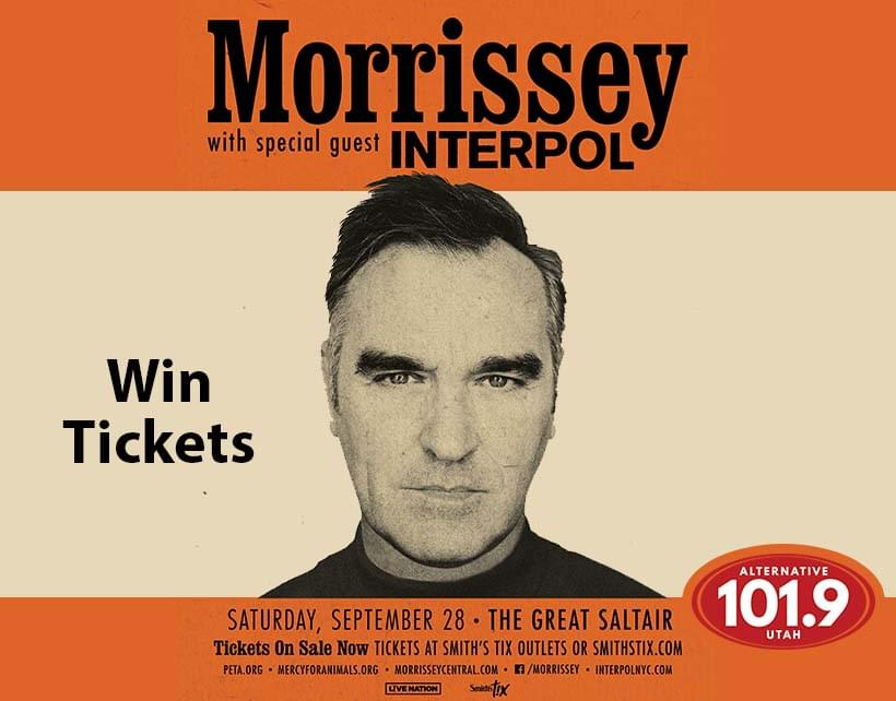 Win Tix to Morrissey at the Saltair on September 28th From ALT 101.9
