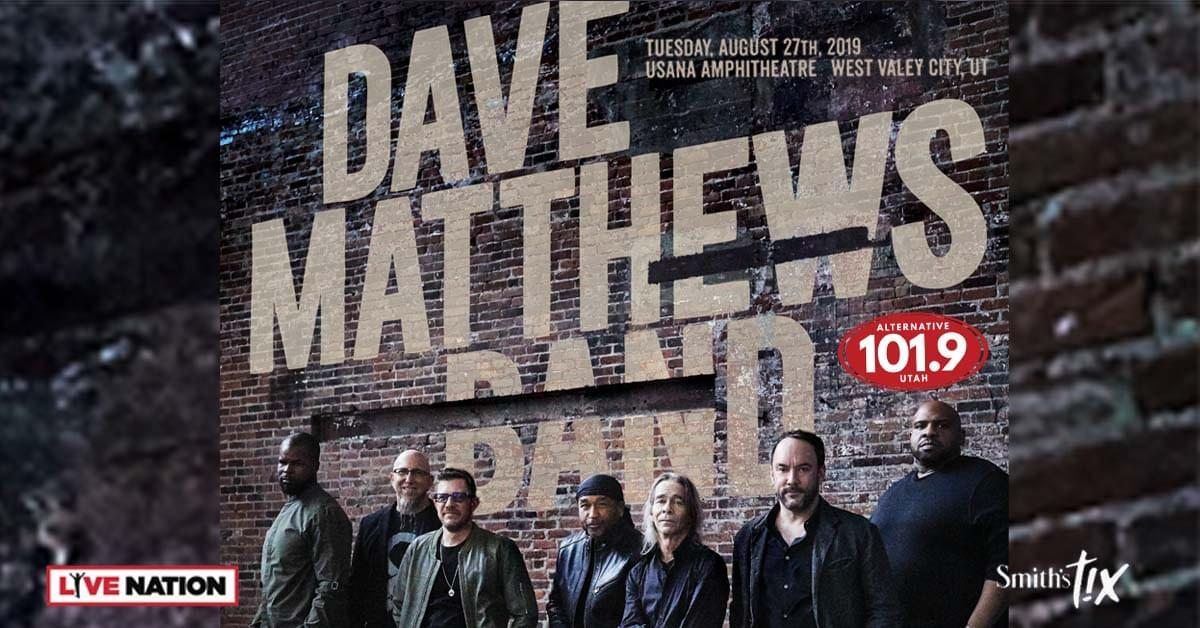 Win Tix to Dave Matthews Band on August 27th at USANA From ALT 101.9