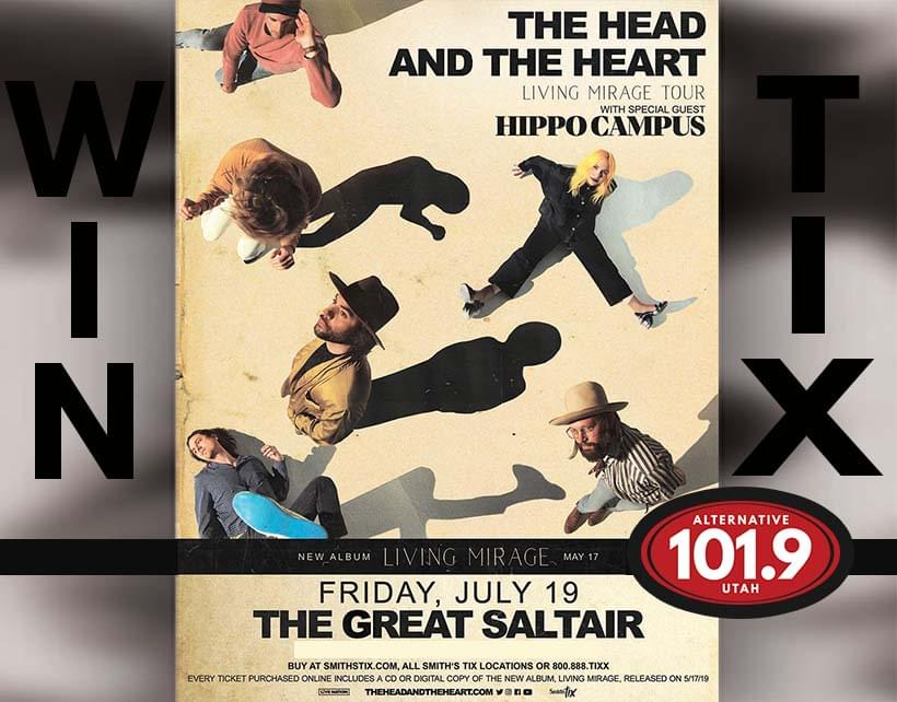 Win Tix to the Head and the Heart July 19 at the Great Saltair From ALT 101.9