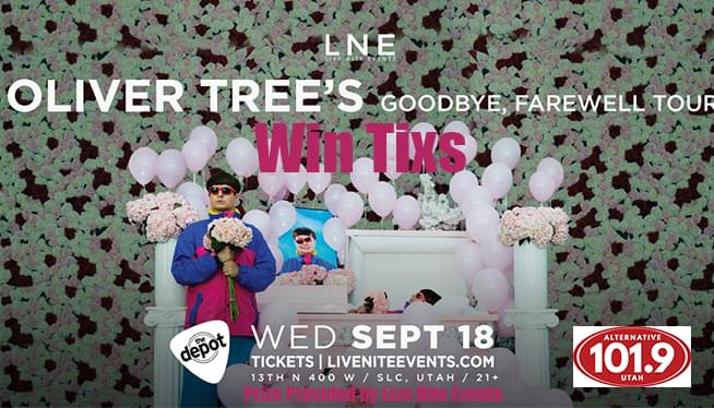 Win Tix to Oliver Tree at the Depot on Wednesday September 18th at 7P
