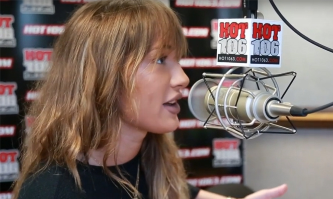 Niykee Heaton in the Hot 106 Studio
