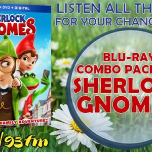 Win a Blu-Ray Combo Pack of Sherlock Gnomes this week!