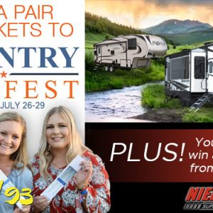 Win Country Fan Fest Ticket and a 1 week rental from Nielson RV!