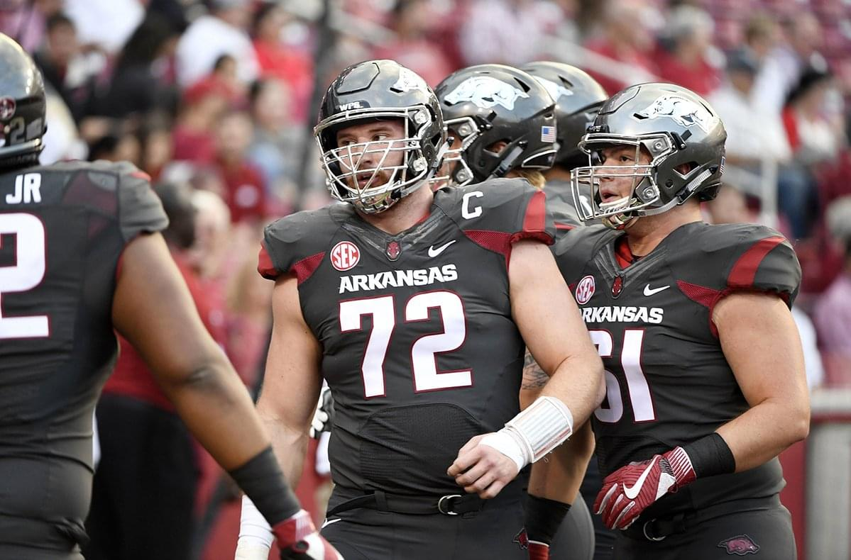 d81b8a061 Lions draft Arkansas Center Frank Ragnow with pick No. 20 in 2018 NFL Draft