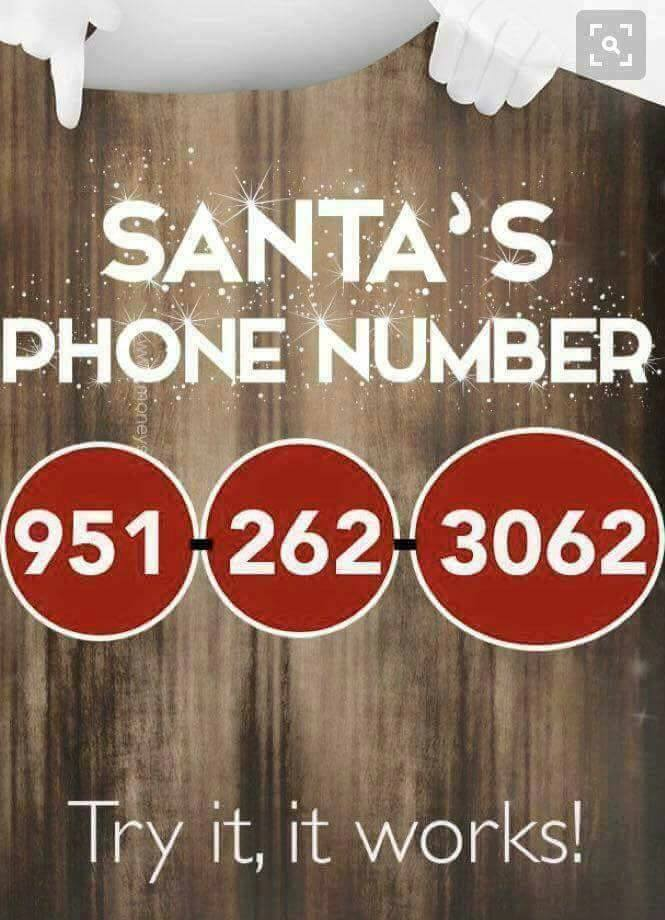 We got a hold of Santa's person phone number!!!