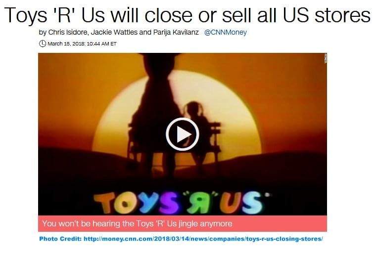 Bad News For All Who Shop At Toys R Us Who Hasn T Katm Fm