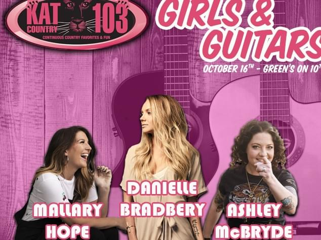 """Join Kat Country 103 for """"Girls & Guitars"""" All-Girl Country Guitar Pull"""