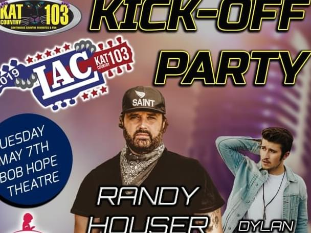 [UPDATE] The LAC Kickoff Party With Randy Houser Has Been RESCHEDULED!