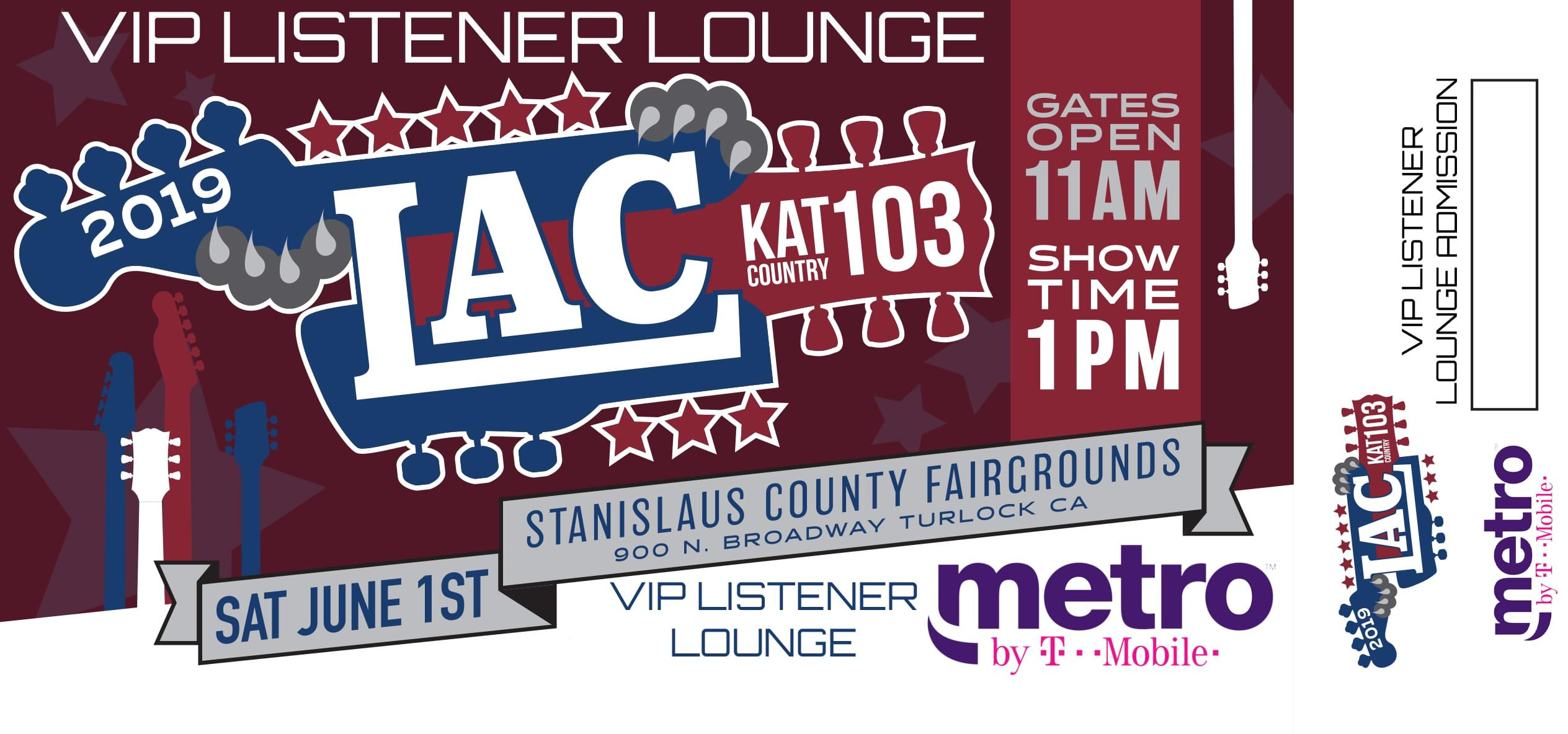 The LAC VIP Listener Lounge on sale @10am!