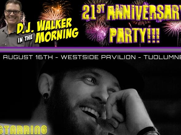 DJ Walker's 21st Anniversary Party featuring Brantley Gilbert August 16th At Westside Pavilion!