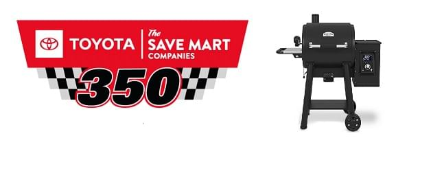 "Win Tickets To The NASCAR Toyota/Save Mart 350 & A Broil King brand ""Pellet 500 Pro Smoker"" From All Brands In Riverbank For Your Dad!"