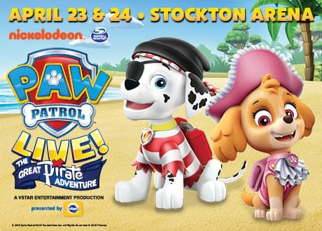 Paw Patrol LIVE @ the Stockton Arena