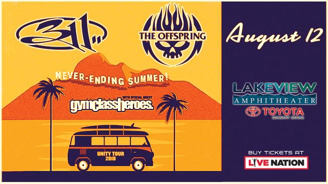 311 & The Offspring @ St. Joseph's Health Amphitheater at Lakeview | August 12th