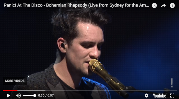 """Panic! At The Disco Tribute to Queen with """"Bohemian Rhapsody"""" 