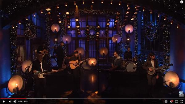 Mumford and Sons on SNL