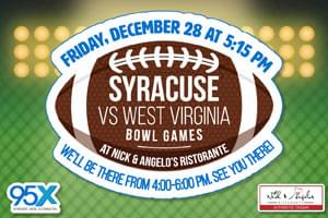 Syracuse vs West Virginia Bowl Game Watch Party
