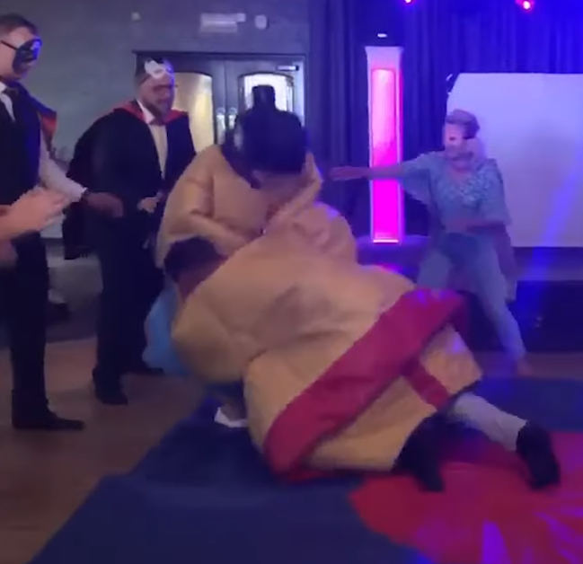 Sumo Suit Wedding Dance