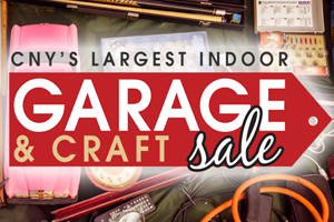 CNY's Largest Indoor Garage & Craft Sale is THIS Saturday!